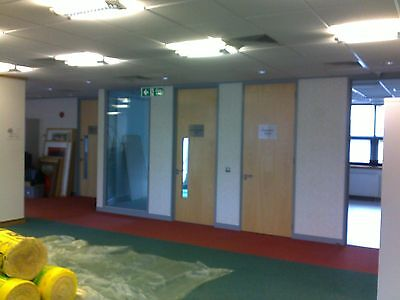Office partitioning supsended ceilings carpet tiles complete fit out service