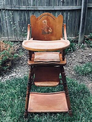 1950's Antique Multi Purpose High Chair, Child's Desk, and Potty Seat