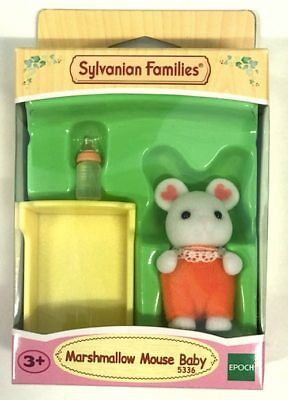 NEW Sylvanian Families Marshmallow Mouse Baby from Purple Turtle Toys