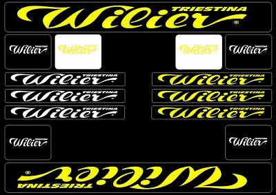 Kit stickers bike Replica Decal Wilier prespaziati High Quality Choose The Color