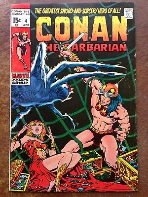 Conan the Barbarian (Marvel) #4 1971 FN/VF