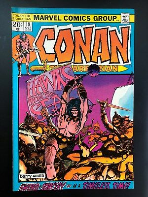 Conan the Barbarian #19 FN+ (Oct 1972, Marvel) Barry Smith art