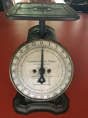 Vintage  Columbia Family Scale  - Landers Frary & Clark  24lb - WORKS!