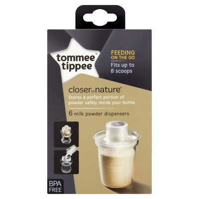 Tommee Tippee Closer To Nature Milk Powder Formula Dispensers Pots Six Pack