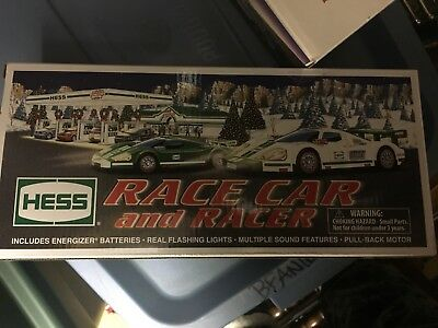 New 2009 Hess Truck in box Race Car and Racer