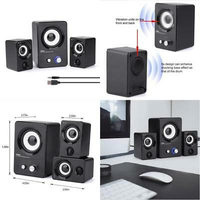 USB Powered Computer Speakers System (X7 Black) or Gaming/Music/