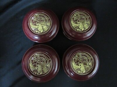 Vintage Lot Of Four Twa Trans World Airlines Plastic Trinket Boxes Double Globes