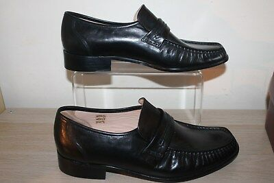 New Men's Grenson Watford Black Leather Moccasin Shoes UK  8.5 G Boxed - ap18
