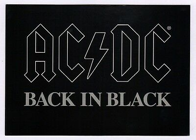 6x AC/DC Back in Black - Postcard (Lot of 6 Postcards)