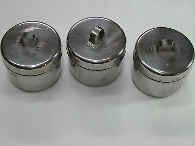 Vollrath Stainless Steel Medical Containers with Lids Three of