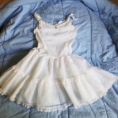 Her Majesty White Crinoline Slip for Polly Flinders Party Dress Size 8 Used Once