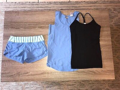 Girls Ivivva Top And Short Lot Of 3 Size 6 EUC