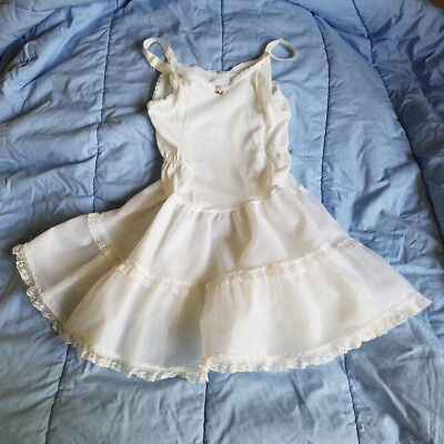 Her Majesty White Crinoline Slip for Polly Flinders Party Dress Size 7 Used Once