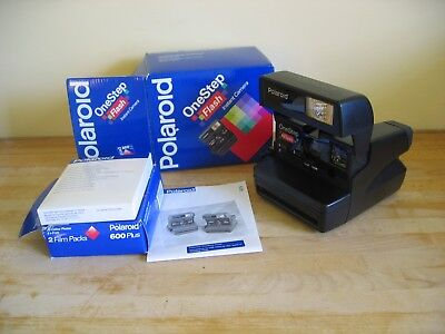 Vintage Polaroid One Step Flash Instant Camera with Film - Boxed & Instructions