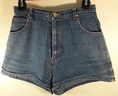 Vintage Women's Size 12 Jeans Denim Shorts 100% Cotton Young Collection made in