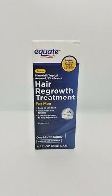 Equate Hair Regrowth Treatment for Men Minoxidil Topical Aerosol|5% Foam| 2.11OZ