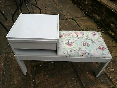 shabby chic 50s telephone table