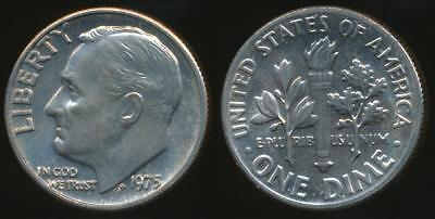United States, 1975 Dime, Roosevelt - Uncirculated