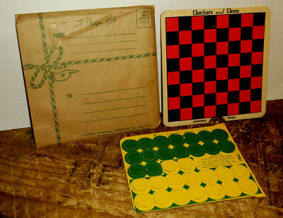 Vintage WWII US GI 1942 Chek-Mate, Checkers & Chess Games EX