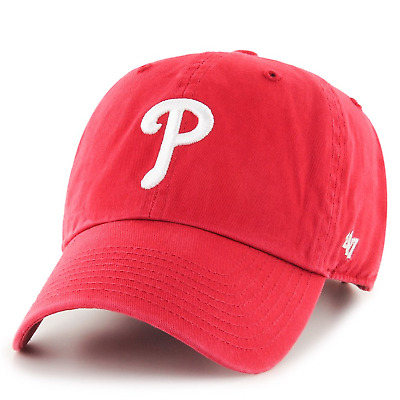 uk availability 64f59 58020 Philadelphia Phillies Clean Up Red Dad Hat
