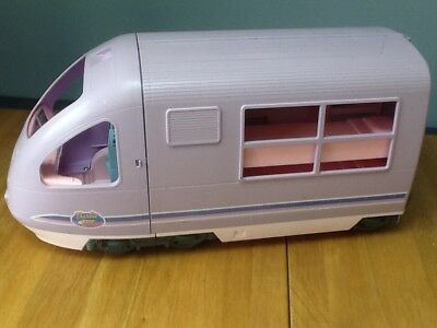 BARBIE TRAVEL TRAIN/ MOVING SCENERY/ RECORD/ SOUNDS & MORE 2001 Good Condition