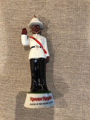 "Vintage Nassau Royale Policeman Porcelain Decanter/Liqueur Bottle  7 1/4"" Empty"