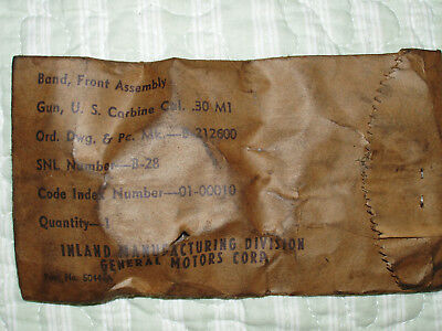 Type 1 M1 Carbine Barrel Band Assy, in the wrapper. Inland Division.