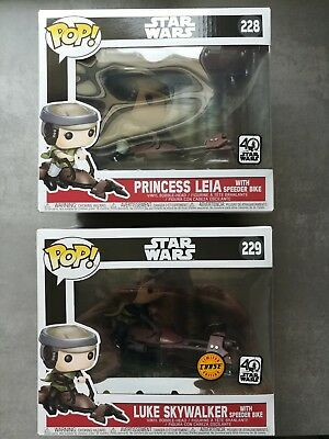Princess Leia with Speeder Bike #228 Funko Pop! + Limited Chase Edition 2-Pack