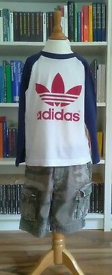 Scotch Shrunk Shorts + Adidas Vintage Shirt, Gr. 116, Kombi, rare Teile!