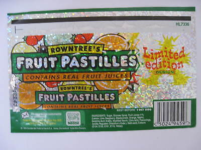 ROWNTREES PASTILLES Limited Edition HOLOGRAM 1995 Original label Sweets Candy EX