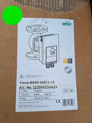 wilo yonos maxo 40/0.5-12 heating pump