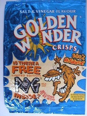 GOLDEN WONDER Crisp wrapper 1996 POGS Collection VGC sweets nuts empty candy