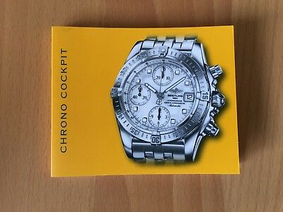 BREITLING  Chrono Cockpit  Bedienungsanleitung  Booklet Instructions Manual
