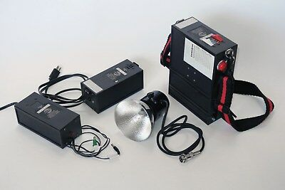 Lumedyne Portable 400ws Strobe/Flash System with Battery and AC adapter