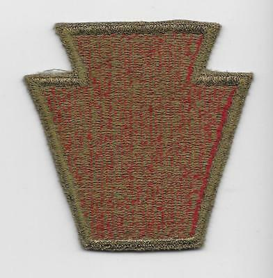 Original WW2 28th Infantry Division patch - WITH OD BORDER + GREEN BACK -US Army