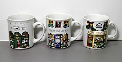 Three An English Life Mugs - Wade Made in England