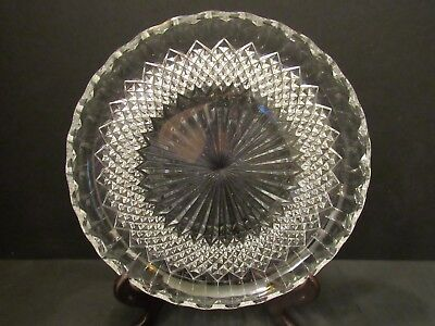 Vtg American Brilliant Cake Plate, Platter, Tray, 10.5 in. Diameter, Excellent!