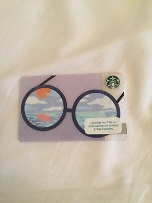 CARTE CADEAU.  GIFT CARD STARBUCKS LUNETTE-GLASSES.  Collection 2018 FRANCE
