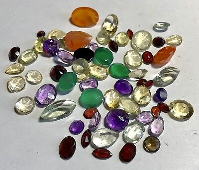 Natural Gemstones from Gold Scrap Recovery, 117 Carats