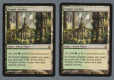 MTG Ravnica: City of Guilds Temple Garden English [EX] x2
