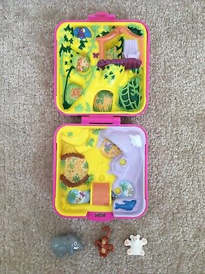 Vintage Polly Pocket 1989 wild zoo world with figures rare