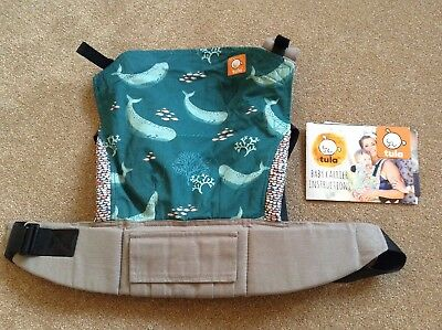 Tula Baby Carrier standard - Narwhal (whale design) plus infant insert in grey