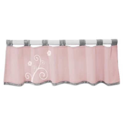 Lambs & Ivy Swan Lake Window Valance Pink/White/Grey NEW