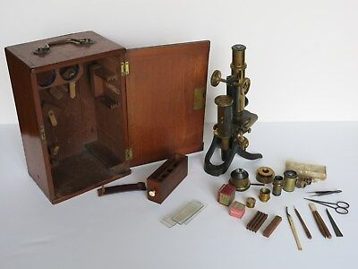 19th Century Swift And Son - London -Microscope & Mahogany Fitted  Box