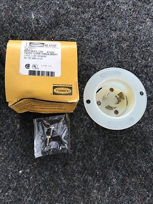 NEW IN BOX Hubbell HBL4716C Flanged Inlet InsulGrip 15A 125V 2 Pole 3 Wire