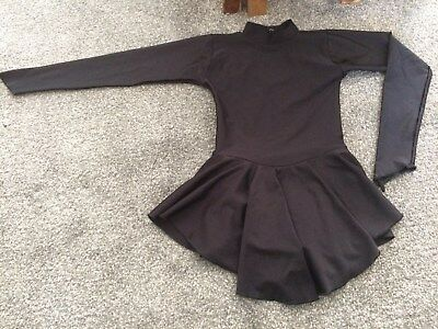 Black Long Sleeve Skating Dress