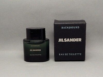 Jill Sander, Background. in Box. Mini Parfum. Mini perfume. 36 mm.