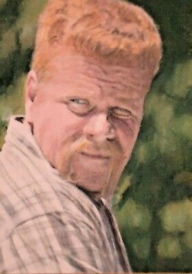 Original Abraham Ford The Walking Dead aceo sketch card watercolour painting