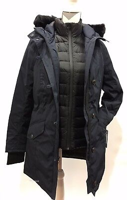 7637084f434 UGG ADIRONDACK DOWN PARKA WITH VEST 3 IN 1 WATERPROOF JACKET NAVY -SIZE L  -New