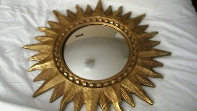 "Vintage 1994 starburst convex mirror wall decor..17"" x 17"""